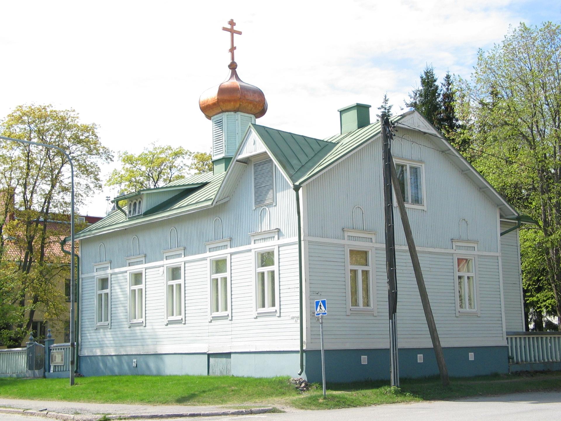 Pyhien Simeonin ja Hannan rukoushuone, tsasouna, sijaitsee Katariinankadun ja Pormestarinkadun kulmassa.