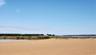 Meripuiston ranta tarjoaa hyvät puitteet uimiseen.