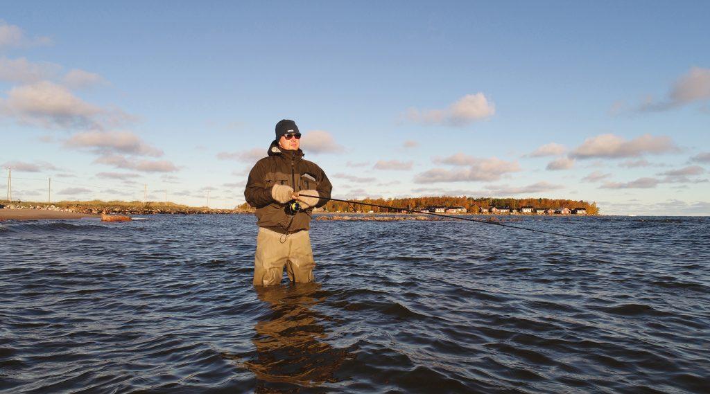 Viehekalastusta Kokkolan Lohtajan rannoilla